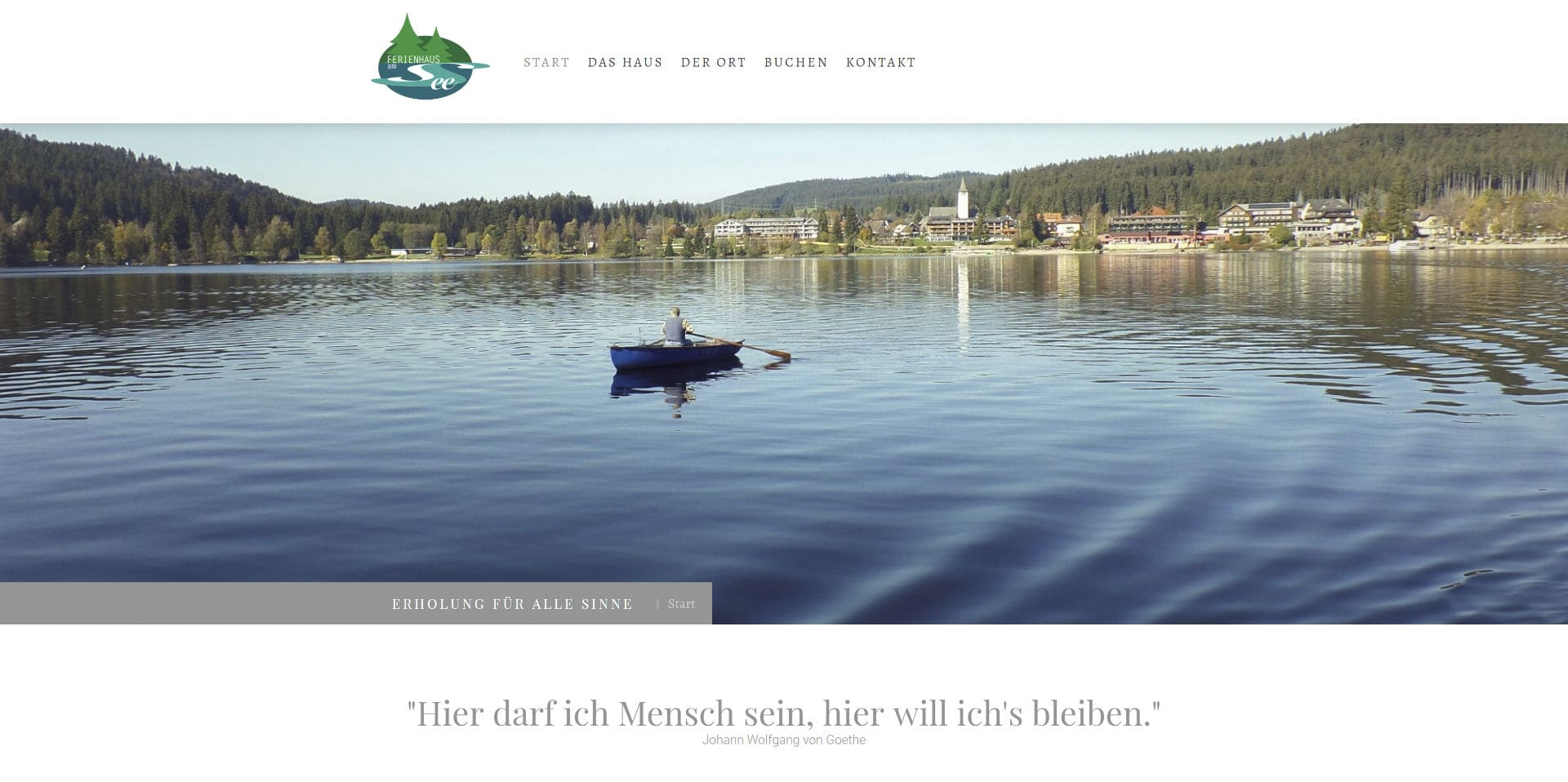 Neue Website – Ferienhaus am Titisee