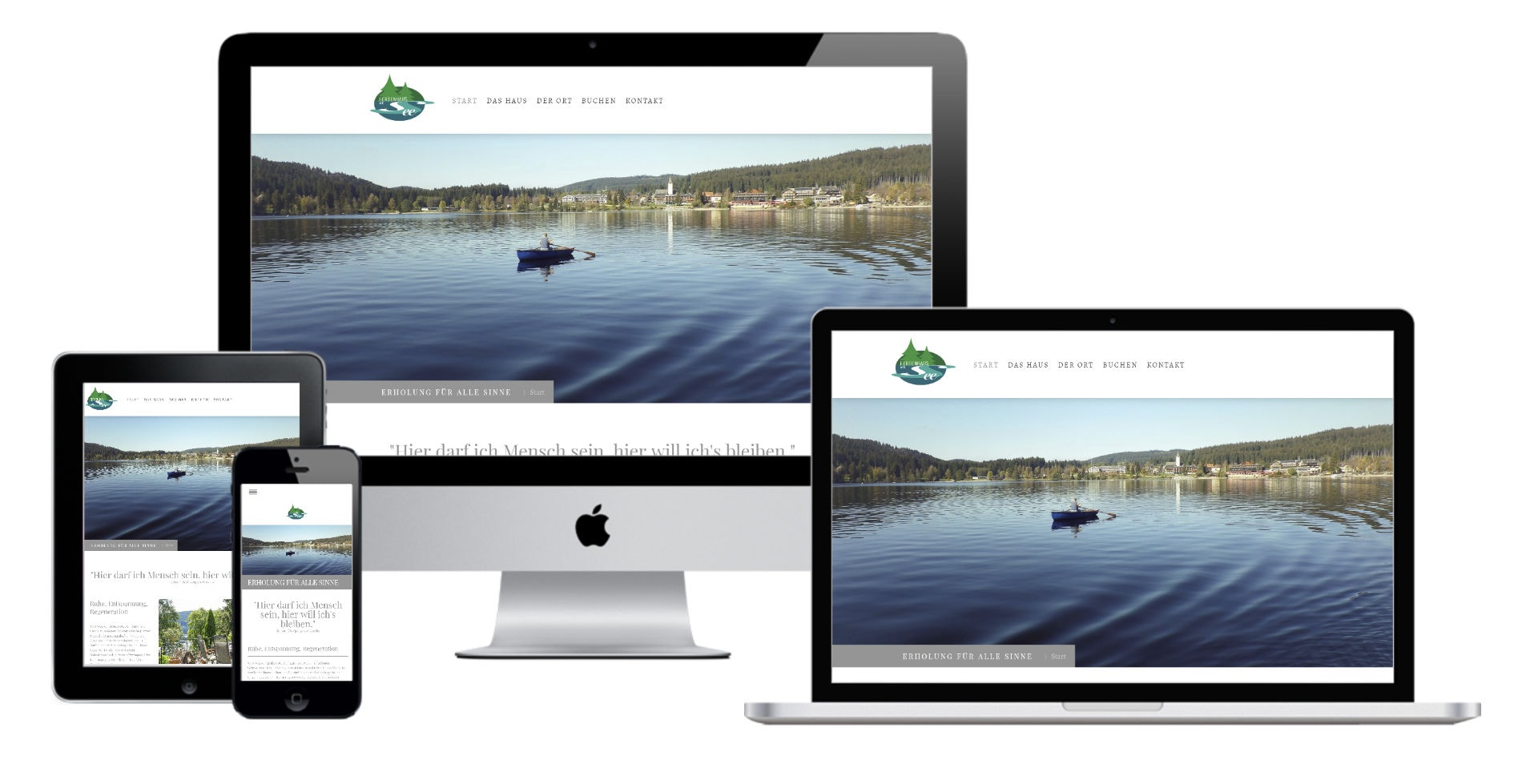 Webdesign & Website - Make a Smile Media Website Webdesign - Ferienhaus am Titisee