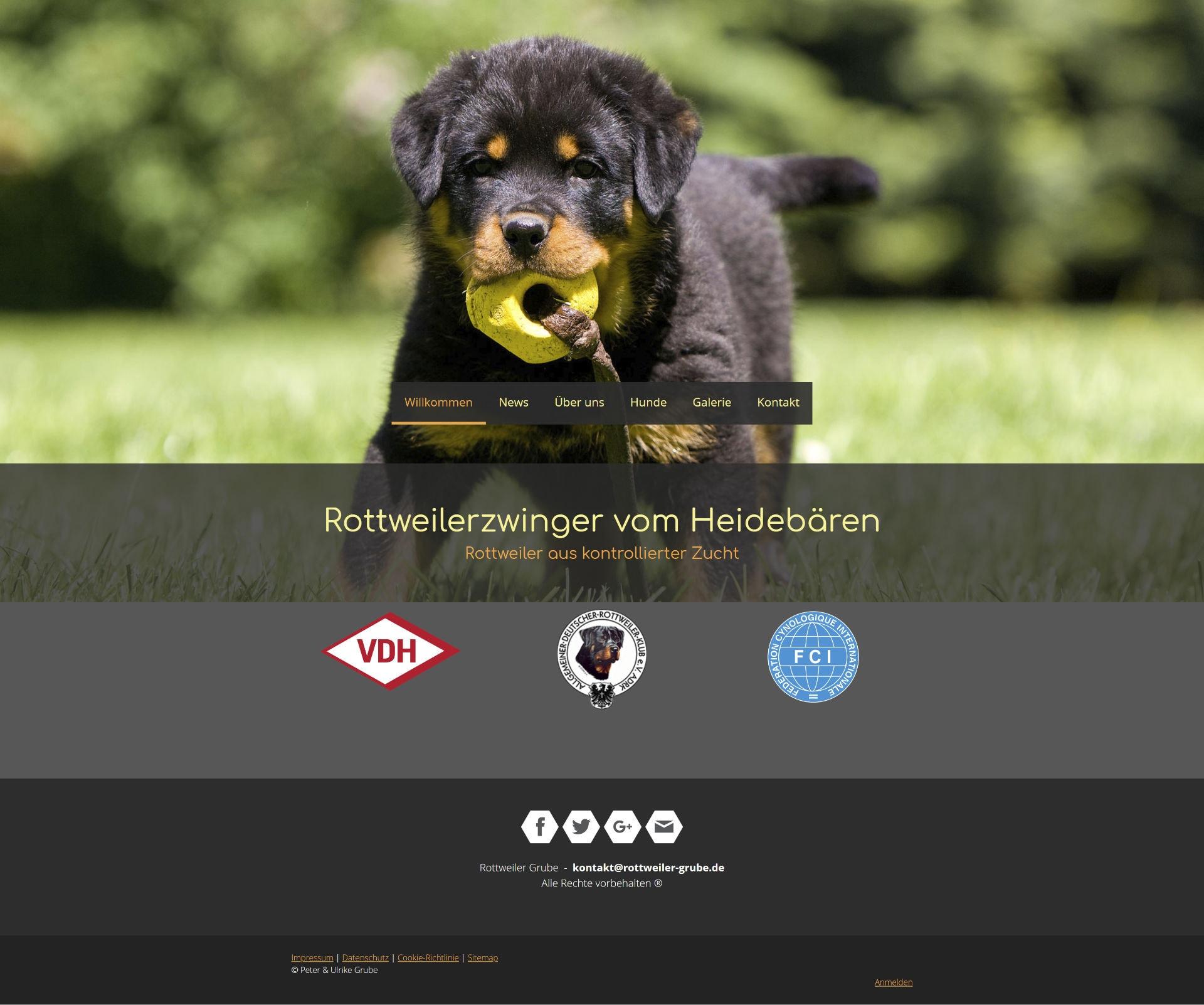 Neue Website – Rottweiler Grube