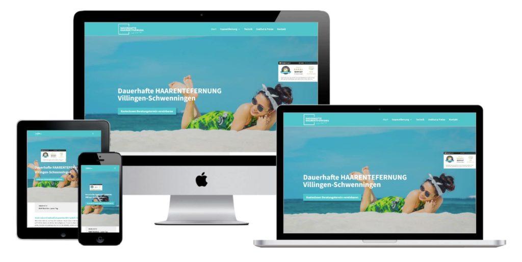 Webdesign & Website - Dauerhafte Haarentfernung Villingen-Schwenningen Mockup