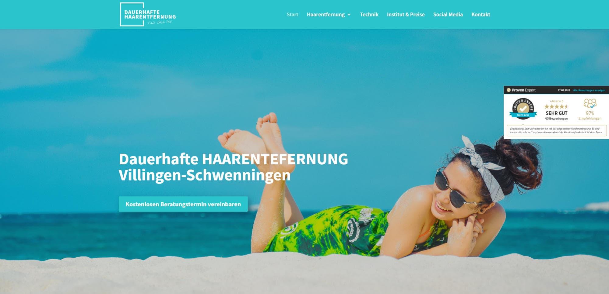 Neue Website – Dauerhafte Haarentfernung Villingen-Schwenningen