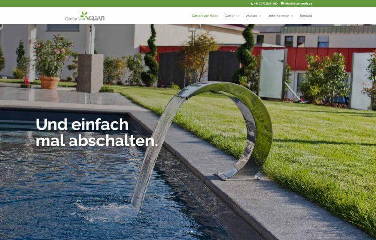 Neue Website – Gärten von Kilian