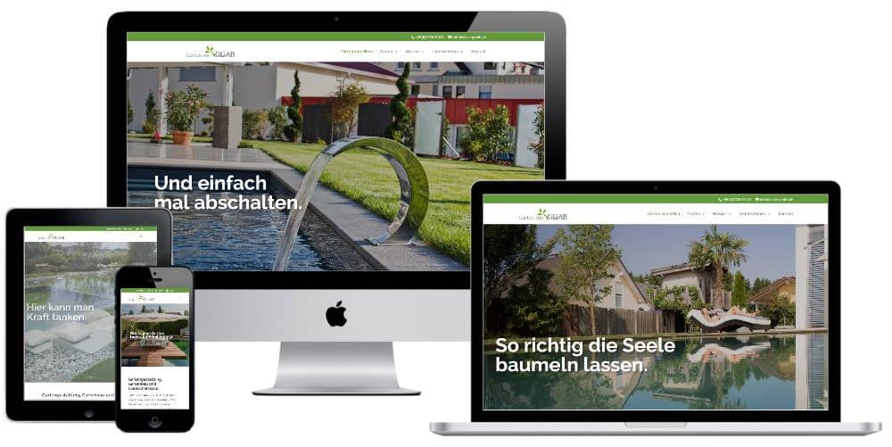 Make a Smile Media Referenz Neue Website Gärten von Kilian