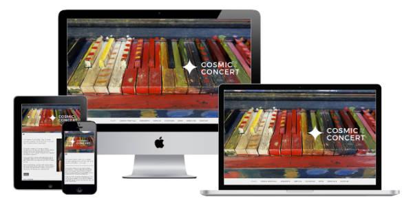 Make a Smile Media Website Responsive Webdesign – Cosmic Concert
