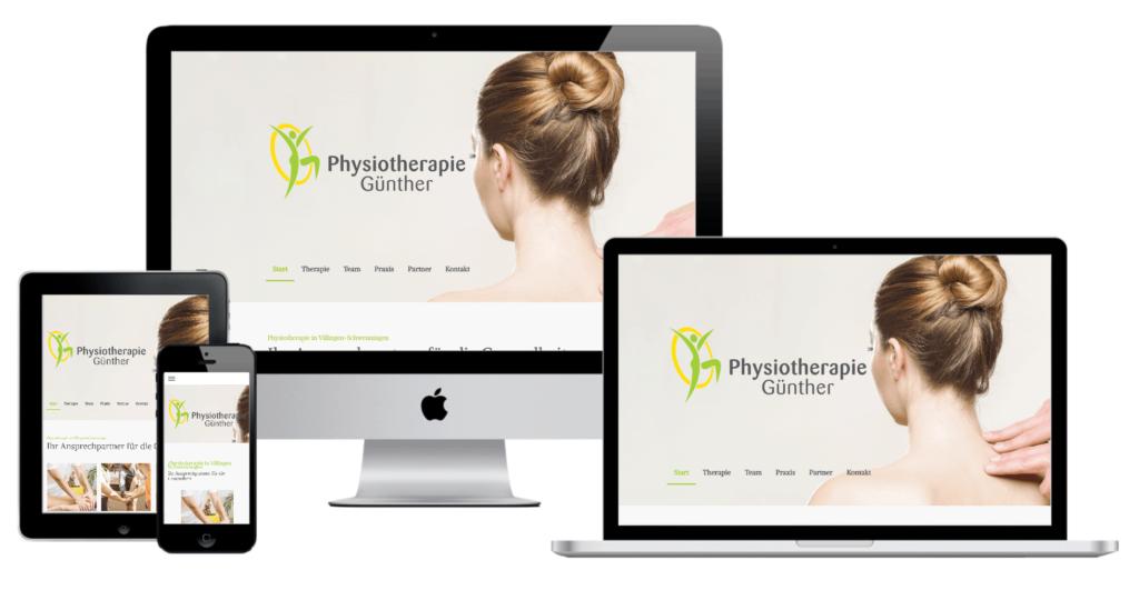 Physiotherapie Günther Make a Smile Media Webdesign