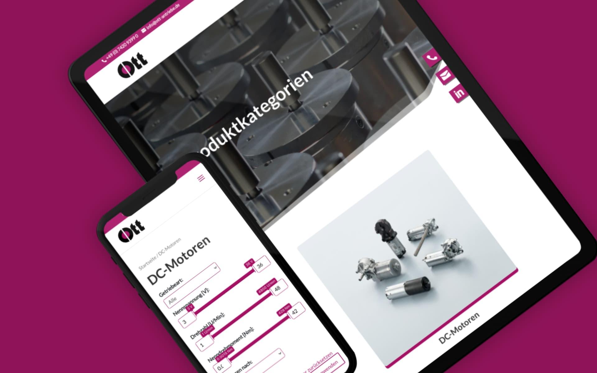Neue Website – Ott Antriebe