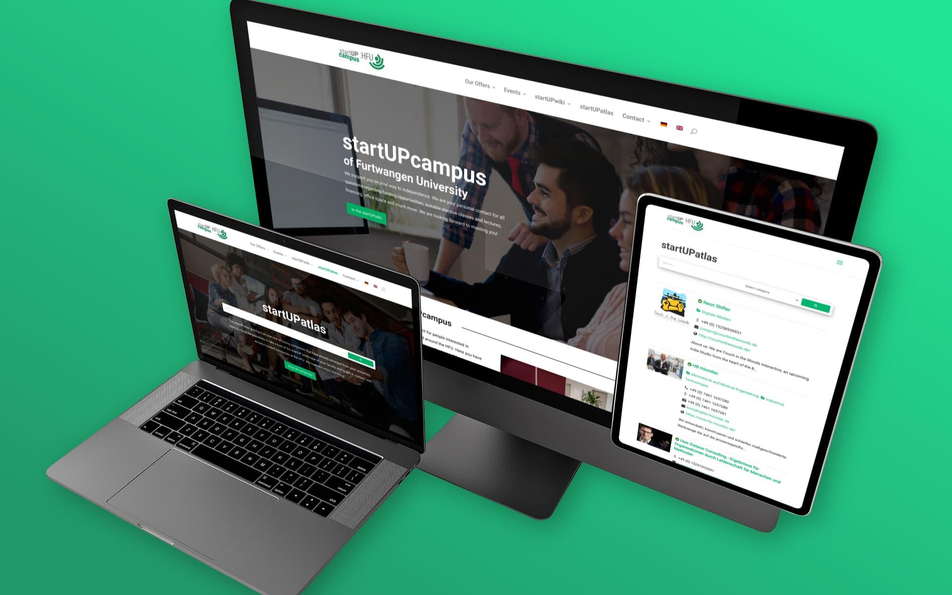 Neue Website – HFU startUPcampus